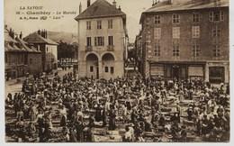 8927 -  Savoie - CHAMBERY : PLACE DU  MARCHE , Le Marché.......circulée En.1918.....  N° 2 - Chambery