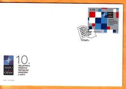 Croatia 2019 Y FDC 10th Anniversary Of NATO Acceptance Postmark Zagreb 01.04. - Croatia