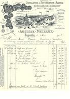 Facture Distillation & Rectification D'alcools Distillerie De Kirch à Rougerolles ( Hte Saône ) En 1903 - France