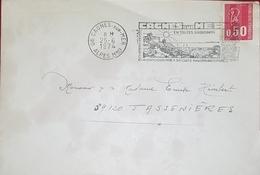 Flamme Cagnes Sur Mer 1974 ... Erreure Flamme étirée Par La Mécanique - Marcophilie (Lettres)