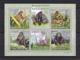 SAINT-THOMAS ET PRINCE - TIMBRE N°3466/70 NEUF** - SINGES - Chimpanzés