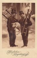 AK - Herzlichen Neujahrsgruss - Zwei Rauchfangkehrer Mit Glücksschwein - Feldpost 1939 - Neujahr
