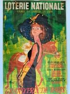 Affiche Ancienne / Hippisme / Illustrateur BRENOT / Grand Prix De Paris 1965 / Loterie Nationale - Affiches