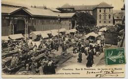 8934 -  Savoie - CHAMBERY : PLACE DU  MARCHE , Le Marché., Marchandes  Des 4 Saiisons  -    Circulée En 1908 ..n° 9 - Chambery