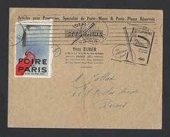 Vignette Foire De Paris Sur Enveloppe Illustrée STYLOMINE TAD Machine Paris 27/4/31 - Postmark Collection (Covers)