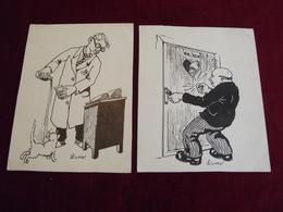 2 DESSINS HUMORISTIQUES ( Signés E. WINTERS - Drawings