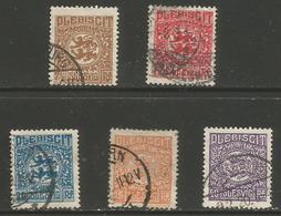 Schleswig - 1920 Plebiscite Issue Part Set Used - Germany
