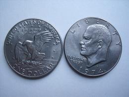ETATS UNIS = UNE PIECE  DE MONNAIE  DE 1 DOLLAR DE 1974 - 1971-1978: Eisenhower