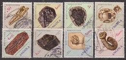 Minéraux Et Fossiles. - ANGOLA - Météorite, Gondwanadium, Diamant, Moscovite, Microceratodus, Barite, Nostoceras - 1970 - Angola