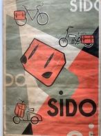 Affiche Ancienne / SIDO / Saccoches Vélo, Vélomoteur, Scooter / Imp Vételé Cholet - Affiches