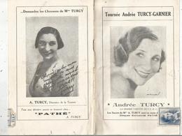 Programme, Tournée Andrée TURCY-GARNIER,,14 Pages, 6 SCANS , Frais Fr : 3.15 E - Programmes