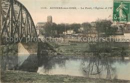 13514613 Auvers-sur-Oise Pont Eglise  Auvers-sur-Oise - Ohne Zuordnung