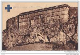 Belfort (Territoire) Le Château Et Le Lion + Dos Congrés National  Croix Bleue Française - 28 29 Et 30 Septembre 1929 - Belfort – Le Lion