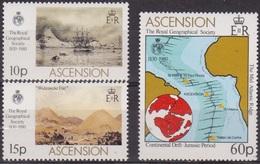 Royal Géographical Society - ASCENSION - Foire Aux Chapeaux - Dorsale De L'Atlantique Sud - N° 269-270-271 ** - 1980 - Ascension (Ile De L')