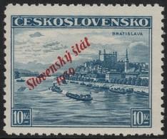 ~~~ Slovakia Slovaquie 1939 - Slovensky Stat Overprint - Mi. 22  ** MNH -  Neuf Sans Charniere -  CV  450 Euro  ~~~ - Slowakije