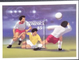 Dominica 1986 World Cup Soccer Championships,Mexico, S/S - West Indies