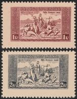 ~~~ Czechoslovakia 1934 - National Hymne - Mi. 330 X / 331 X (Thick Paper) (*) MNGAI -  CV  62 Euro ~~~ - Unused Stamps