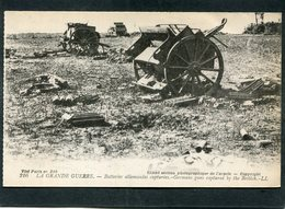 CPA - LA GRANDE GUERRE - Batteries Allemandes Capturées - Guerre 1914-18