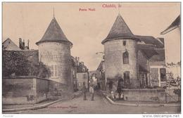 J3- 89) CHABLIS (YONNE) PORTE DE NOËL  - (ANIMÉE - 2 SCANS) - Chablis