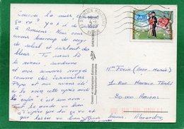 TIMBRE  PEYNET-la Saint-Valentin -HUMOUR - CHOUETTE ! LA NEIGE FOND CPM 1985 Edit. André Grenoble - Timbres (représentations)
