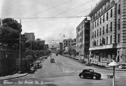 "M07882 ""GENOVA-VIA ORESTE DE GASPERI""ANIMATA FIAT 500 TOPOLINO,TRAM E ALTRI VEICOLI CART ORIG. SPED.1954 - Genova"
