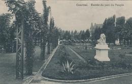 CPA - Belgique - Kortrijk - Courtrai - Entrée Du Parc Du Peuple - Kortrijk