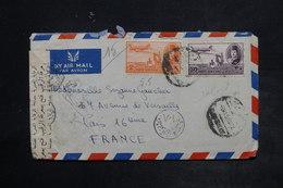 EGYPTE - Enveloppe Pour La France En 1950 , Affranchissement Plaisant , Contrôle Postal - L 26426 - Covers & Documents