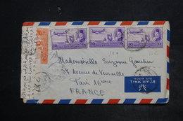 EGYPTE - Enveloppe Pour La France En 1950 , Affranchissement Plaisant , Contrôle Postal - L 26427 - Covers & Documents