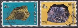 Minéraux - Minerai - Pierres Précieuses - BOTSWANA - Cuivre - Agate - N° 269-270 - 1974 - Botswana (1966-...)