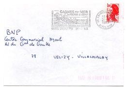 CHATEAU = 06 CAGNES Sur MER 1983 = FLAMME Type II = SECAP  Illustrée ' En Toutes Saisons / HIPPODROME / MAISON RENOIR ' - Postmark Collection (Covers)