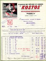 """MOUY  (60) : """" ENGINS De PÊCHE """" KOSTOS """" """"  1945  PARIS 12 - France"""