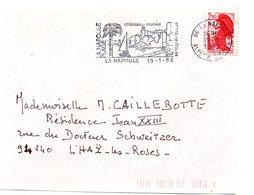 CHATEAU = 06 LA NAPOULE 1988 = FLAMME Type II = SECAP  Illustrée D'un PALMIER ' CHATEAU Musée / Sports Nautiques  ' - Mechanical Postmarks (Advertisement)