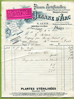 """PARIS  : """" A JEANNE D'ARC - FLEURS ARTIFICIELLES """"  1915 - France"""