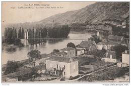 N17- 46) CASTELFRANC  (LOT) LE PONT ET LES BORDS DU LOT  - (2 SCANS) - France