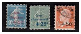 Caisse D'amortissement Série N° 246 à 248 Obl - Used Stamps