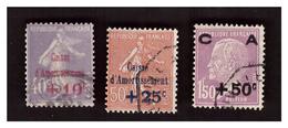 Caisse D'amortissement Série N° 249 à 251 Obl - Used Stamps