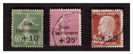 Caisse D'amortissement Série N° 253 à 255 Obl - Used Stamps