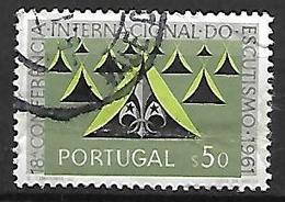 PORTUGAL     -  1962.    Y&T N° 899 Oblitéré .  Scoutisme  /  Tentes  /  Camp. - 1910-... République