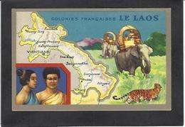 CPSM Laos Asie écrite Indochine Dos Publicitaire - Laos