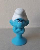 - SCHTROUMPFS - Le Schtroumpf Grognon - Micro Popz. Super U - Peyo - - Smurfs