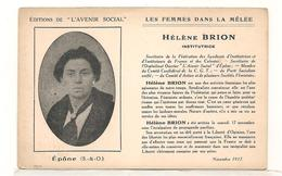Epone - Helene Brion - Activistes Feministes - Syndicalistes Et Institutrices -  Politique - CPA° - Epone