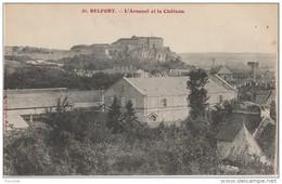 R11- 90)  BELFORT -  L'ARSENAL ET LE CHATEAU - (2 SCANS) - Belfort - Ville