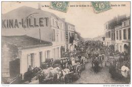 R19-33) PODENSAC -LA MAISON LILLET RECEVANT UN CONVOI DE VIN BLANC DU PAYS DE SAUTERNES - RECOLTE 1900 - 2 SCANS - Francia