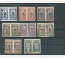YT N° 74 à 81 En Paire Dont Variété S Renversé - Cameroun (1915-1959)