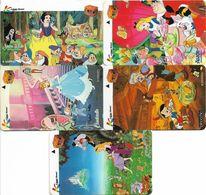 Singapore - Privates Kodak Film (Disney) - Complete Set Of 5 Cards, 3SKOA-E, 52.000ex, All Mint - Singapore
