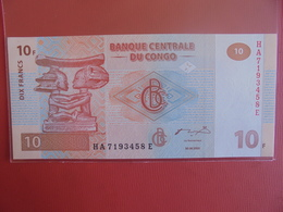 CONGO 10 FRANCS 2003 PEU CIRCULER/NEUF - Congo