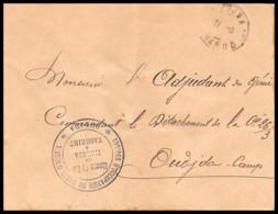4050 Oudjda Train Chemin De Fer De Marnia à Taourirt 1913 Lettre Cover France Guerre Maroc War - Railway Post