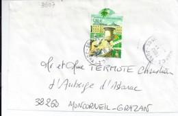 TP N°3607  SUR DEVANT DE  LETTRE DE 2003/04 - Marcophilie (Lettres)