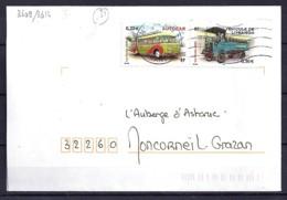 TP N°3609/14  SUR  LETTRE DE 2003/04 - Marcophilie (Lettres)