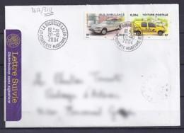TP N°3612/17  SUR  LETTRE DE 2003/04 - Marcophilie (Lettres)